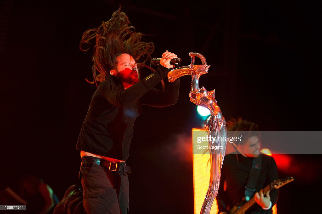 Jonathan Davis of KORN performs during 2013 Rock On The Range at Columbus Crew Stadium on May 17, 2013 in Columbus, Ohio.
