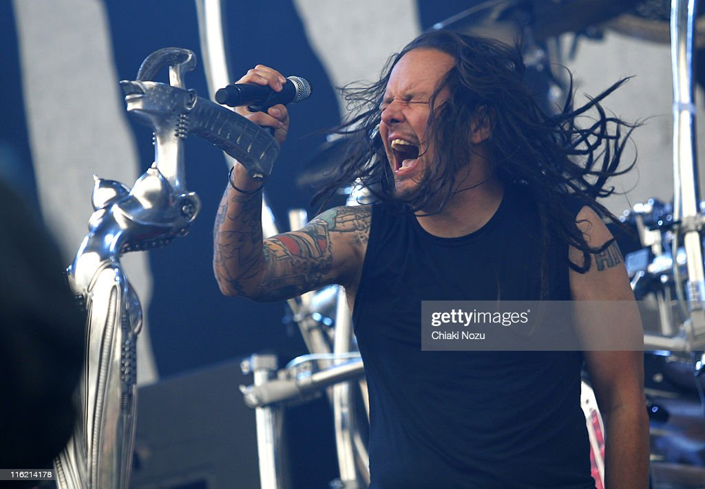 Jonathan Davis of Korn performs on day one of the Download Festival at Donington Park on June 10, 2011 in Castle Donington, England.