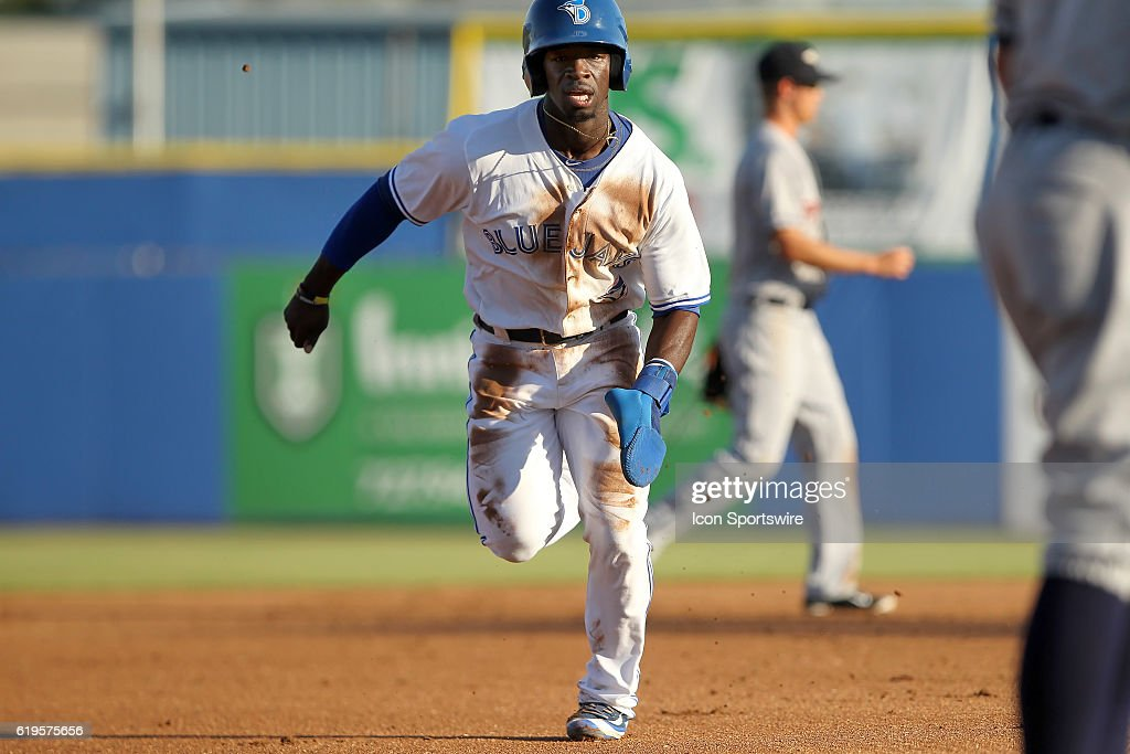 Jonathan Davis of the Blue Jays during the Florida State League game between the Lakeland Flying Tigers and the Dunedin Blue Jays at Florida Auto Exchange Stadium in Dunedin, Florida.
