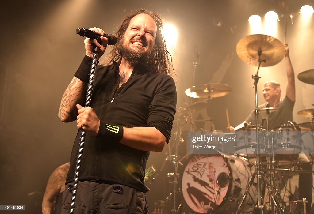 Jonathan Davis performs during The Korn 20th Anniversary Tour at Irving Plaza on October 5 2015 in New York City