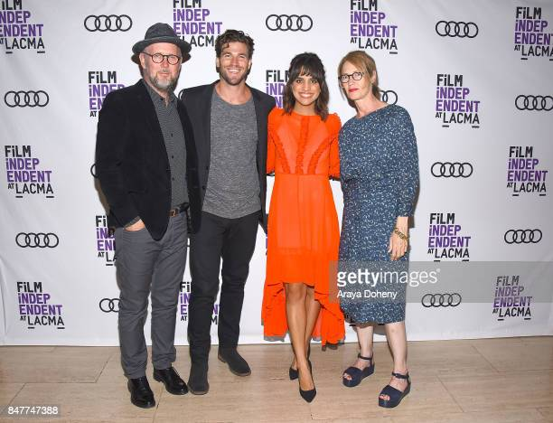 Jonathan Dayton Austin Stowell Natalie Morales and Valerie Faris attend the Film Independent at LACMA screening and QA of 'Battle Of The Sexes' at...