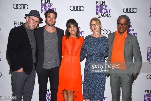 Jonathan Dayton Austin Stowell Natalie Morales Valerie Faris and Elvis Mitchell attend the Film Independent at LACMA screening and QA of 'Battle Of...