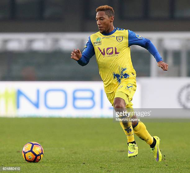 JOnathan De Guzman of Chievo during the Serie A match between AC ChievoVerona and Cagliari Calcio at Stadio Marc'Antonio Bentegodi on November 19...