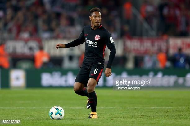 Jonathan de Guzman of Frankfurt runs with the ball during the Bundesliga match between 1 FC Koeln and Eintracht Frankfurt at RheinEnergieStadion on...