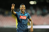 Jonathan De Guzman of Napoli celebrates after scoring goal 30 during the UEFA Europa League football match between SSC Napoli and BSC Young Boys at...