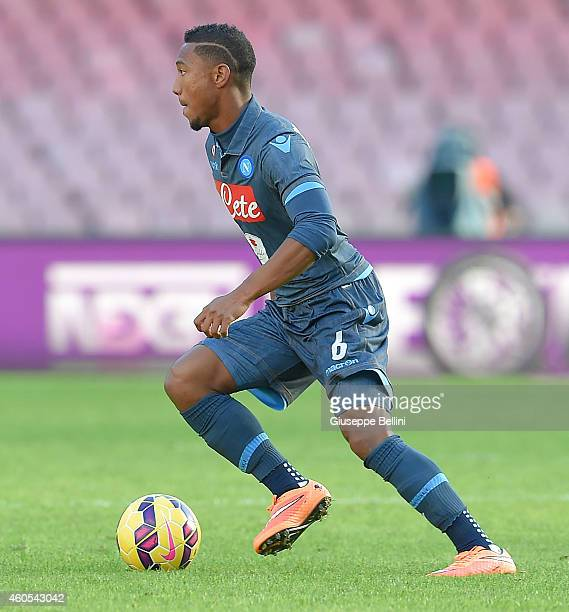 Jonathan De Guzman of Napoli in action during the Serie A match between SSC Napoli and Empoli FC at Stadio San Paolo on December 7 2014 in Naples...