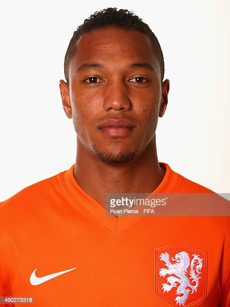 Jonathan de Guzman of Netherlands poses during the official FIFA World Cup 2014 portrait session on June 7 2014 in Rio de Janeiro Brazil