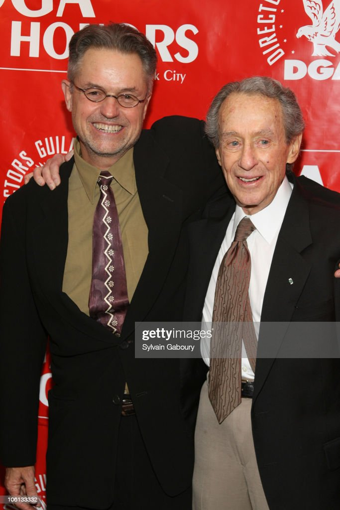 Jonathan Demme and Arthur Penn during 2006 DGA Honors New York City at DGA Theater at 110 West 57th Street in New York City New York United States