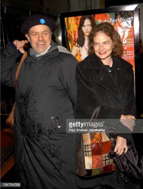 Jonathan Demme and wife Joanne Howard during 'The Dreamers' Premiere New York Inside Arrivals at Beekman Theater in New York City New York United...
