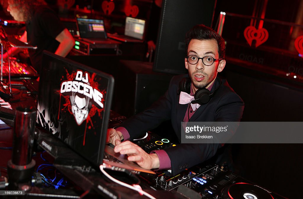 Jonathan 'DJ Obscene' Garcia performs during the iHeartRadio CES exclusive party featuring a live performance by Ke$ha at Haze Nightclub at the Aria Resort & Casino at CityCenter on January 9, 2013 in Las Vegas, Nevada.