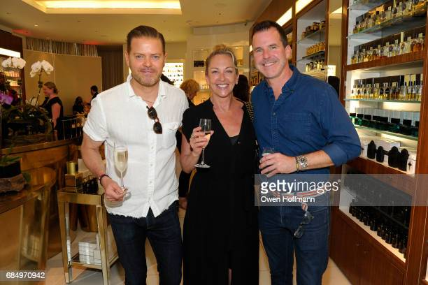 Jonathan Dokuchitz Kae Guy and Clark Thorell attend Amouroud Parfum Opening at Osswald NYC on May 18 2017 in New York City