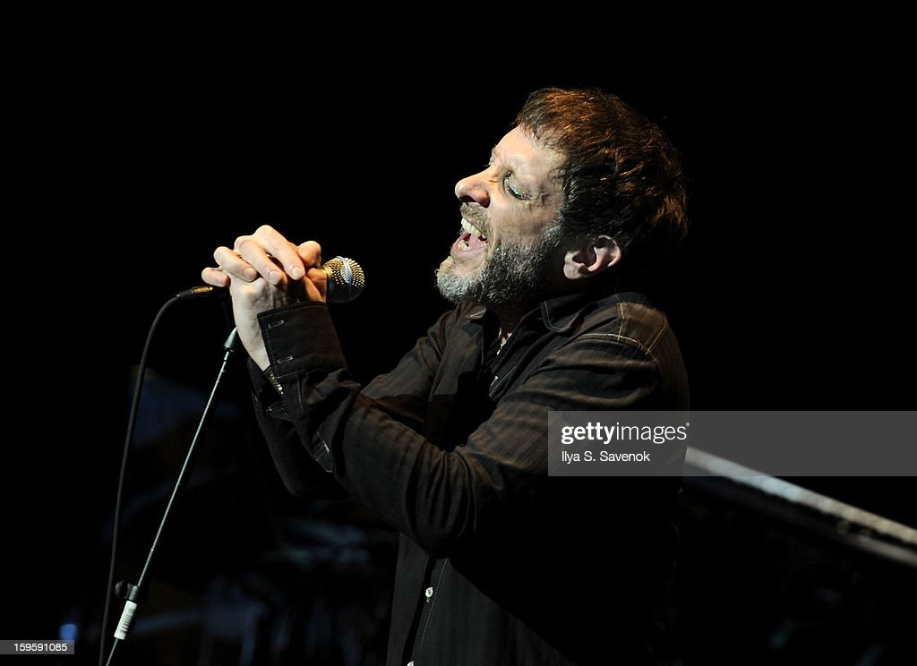 Jonathan Donahue of Mercury Rev performs during Life Along The Borderline: A Tribute To Nico at BAM on January 16, 2013 in New York City.