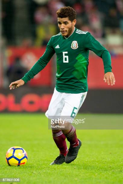 Jonathan dos Santos of Mexico controls the ball during the International Friendly match between Poland and Mexico at Energa Stadium in Gdansk Poland...