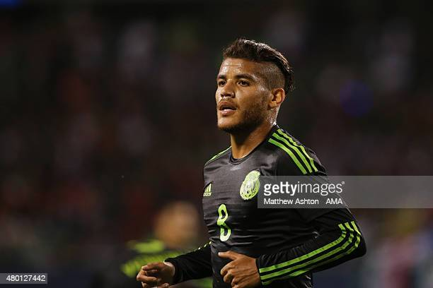 Jonathan Dos Santos of Mexico during the CONCACAF Gold Cup match between Mexico and Cuba at Soldier Field on July 9 2015 in Chicago Illinois