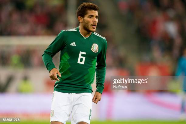 Jonathan dos Santos of Mexico during the International Friendly match between Poland and Mexico at Energa Stadium in Gdansk Poland on November 13 2017
