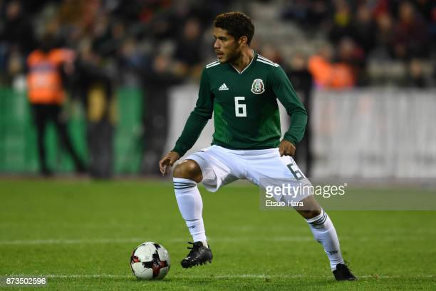 Jonathan Dos Santos of Mexico in action during the international friendly match between Belgium and Mexico at King Baudouin Stadium on November 10...