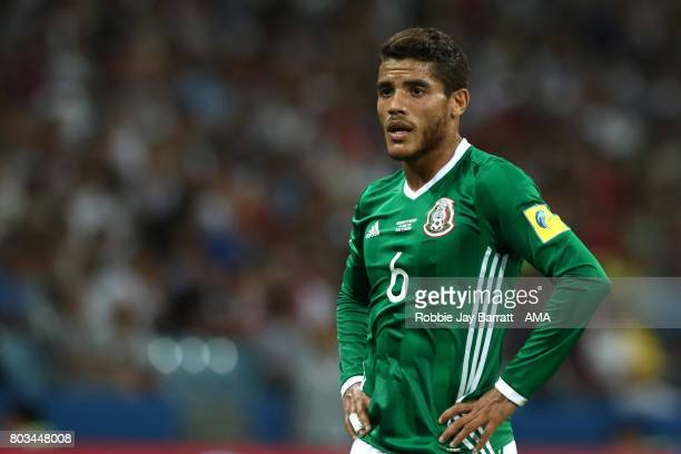 Jonathan dos Santos of Mexico looks on during the FIFA Confederations Cup Russia 2017 SemiFinal match between Germany and Mexico at Fisht Olympic...