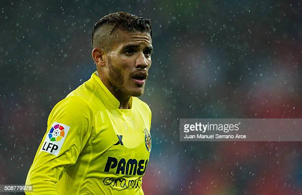 Jonathan dos Santos of Villarreal CF reacts during the La Liga match between Athletic Club Bilbao and Villarreal CF at San Mames Stadium on February...