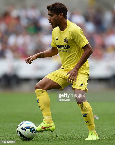 Jonathan Dos Santos of Villarreal in action during a pre season friendly match between Swansea City and Villarreal at Liberty Stadium on August 09...