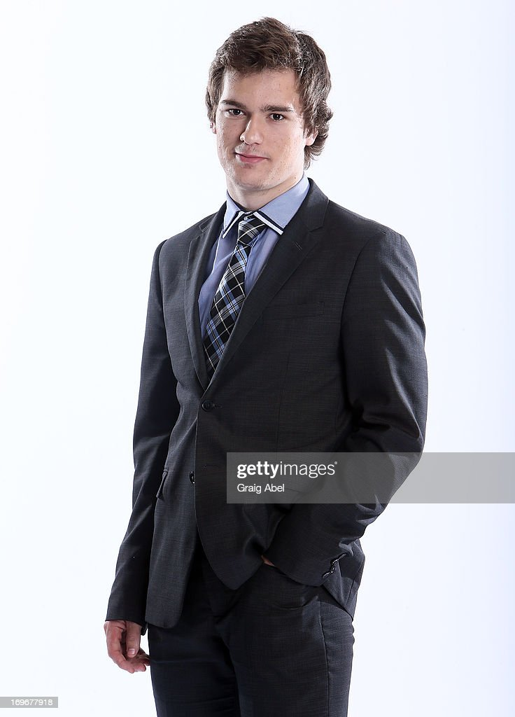 Jonathan Drouin has his formal portrait taken during the 2013 NHL Combine May 30, 2013 at the Westin Bristol Place Hotel in Toronto, Ontario, Canada.