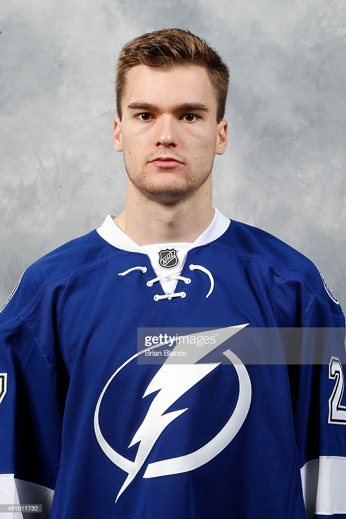 <a gi-track='captionPersonalityLinkClicked' href=/galleries/search?phrase=Jonathan+Drouin+-+Ice+Hockey+Player&family=editorial&specificpeople=10884241 ng-click='$event.stopPropagation()'>Jonathan Drouin</a> of the Tampa Bay Lightning poses for his official headshot for the 2015-2016 season on September 17, 2015 at Amalie Arena in Tampa, Florida.