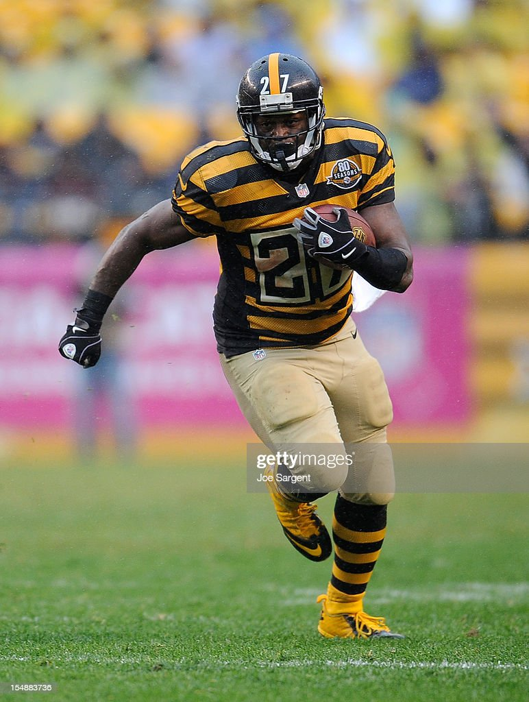 <a gi-track='captionPersonalityLinkClicked' href=/galleries/search?phrase=Jonathan+Dwyer&family=editorial&specificpeople=4501112 ng-click='$event.stopPropagation()'>Jonathan Dwyer</a> #27 of the Pittsburgh Steelers carries the ball during the third quarter against the Washington Redskins on October 28, 2012 at Heinz Field in Pittsburgh, Pennsylvania. Pittsburgh won the game 27-12.