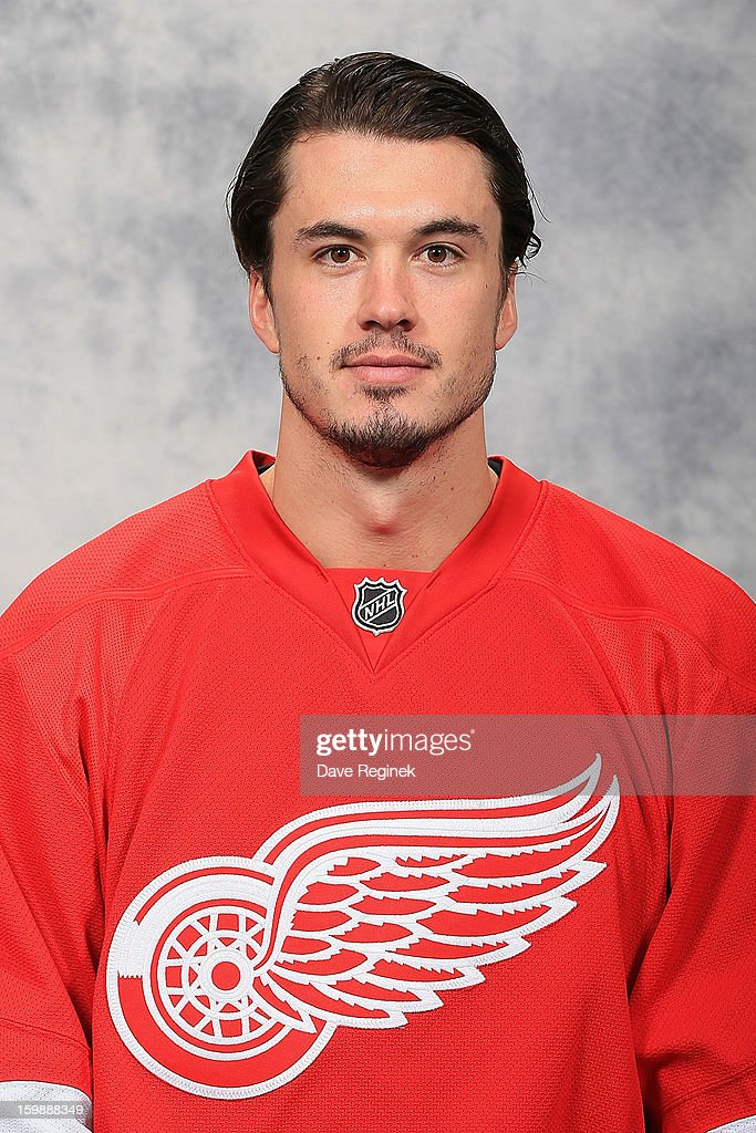 <a gi-track='captionPersonalityLinkClicked' href=/galleries/search?phrase=Jonathan+Ericsson&family=editorial&specificpeople=2538498 ng-click='$event.stopPropagation()'>Jonathan Ericsson</a> #52 of the Detroit Red Wings poses for his official headshot for the 2012-2013 season at Compuware Ice Arena on January 13, 2013 in Plymouth, Michigan.
