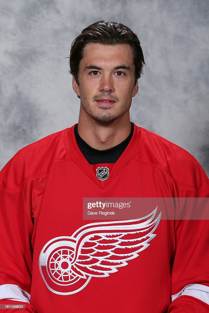 <a gi-track='captionPersonalityLinkClicked' href=/galleries/search?phrase=Jonathan+Ericsson&family=editorial&specificpeople=2538498 ng-click='$event.stopPropagation()'>Jonathan Ericsson</a> #52 of the Detroit Red Wings poses for his official headshot for the 2013-2014 season at Centre Ice Arena on September 11, 2013 in Traverse City, Michigan.