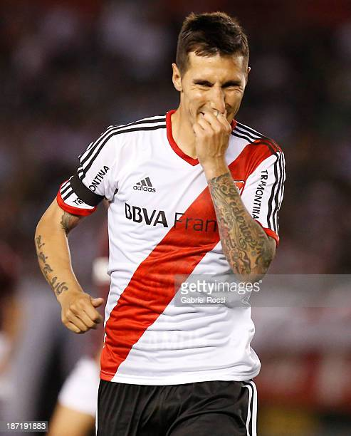 Jonathan Fabbro of River Plate in action during a match between River Plate and Lanus as part of Copa Total Sudamericana at Antonio Vespucio Liberti...
