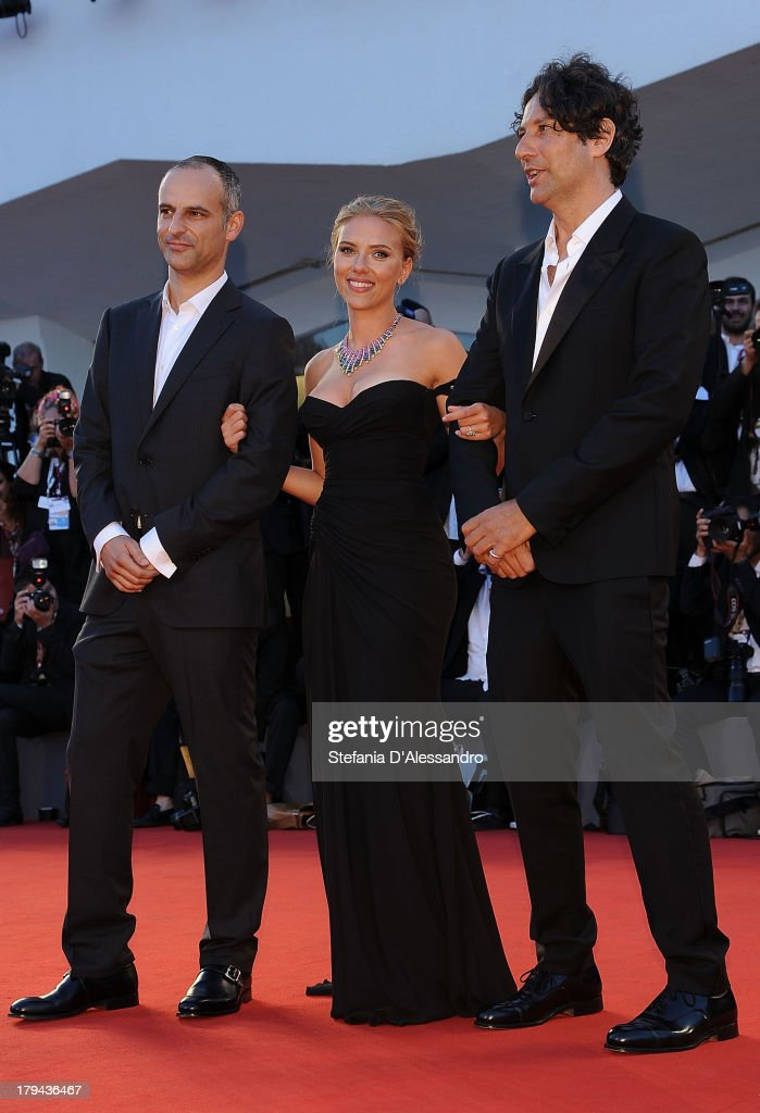 Jonathan Glazer, Scarlett Johansson and James Wilson attend 'Under The Skin' Premiere during the 70th Venice International Film Festival at Sala Grande on September 3, 2013 in Venice, Italy.