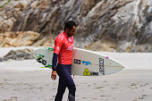 Jonathan Gonzalez winner in the Pro A Coruña Surf 2016 World Surf League event celebrated in the Caión beach A Coruña Galicia Spain on 510 July 2016