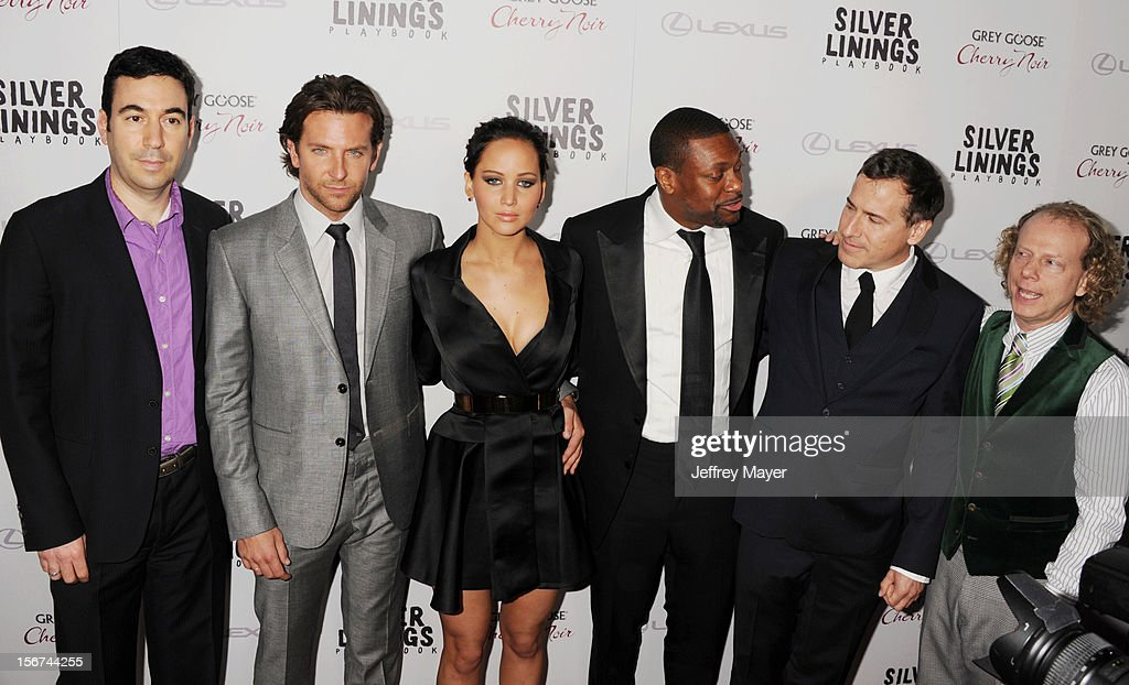 Jonathan Gordon, Bradley Cooper, Jennifer Lawrence, Chris Tucker, David O. Russell and Bruce Cohen arrive at the 'Silver Linings Playbook' - Los Angeles Special Screening at the Academy of Motion Picture Arts and Sciences on November 19, 2012 in Beverly Hills, California.