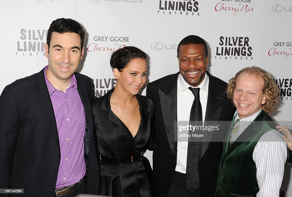 Jonathan Gordon, Jennifer Lawrence, Chris Tucker and Bruce Cohen arrives at the 'Silver Linings Playbook' - Los Angeles Special Screening at the Academy of Motion Picture Arts and Sciences on November 19, 2012 in Beverly Hills, California.
