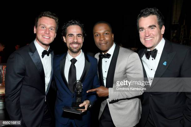 Jonathan Groff Alex Lacamoire Leslie Odom Jr and Brian d'Arcy James attend the 2017 Tony Awards at Radio City Music Hall on June 11 2017 in New York...