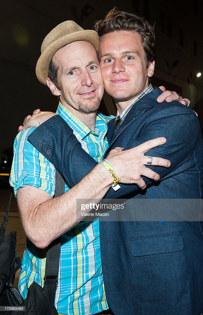 <a gi-track='captionPersonalityLinkClicked' href=/galleries/search?phrase=Jonathan+Groff+-+Actor&family=editorial&specificpeople=2994250 ng-click='$event.stopPropagation()'>Jonathan Groff</a> and <a gi-track='captionPersonalityLinkClicked' href=/galleries/search?phrase=Denis+O%27Hare&family=editorial&specificpeople=213830 ng-click='$event.stopPropagation()'>Denis O'Hare</a> attends the 2013 Outfest Opening Night Gala Of 'C.O.G.' After Party at on July 11, 2013 in Los Angeles, California.