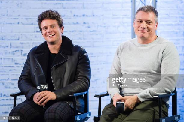 Jonathan Groff and Holt McCallany during a discussion at BUILD London on October 11 2017 in London England