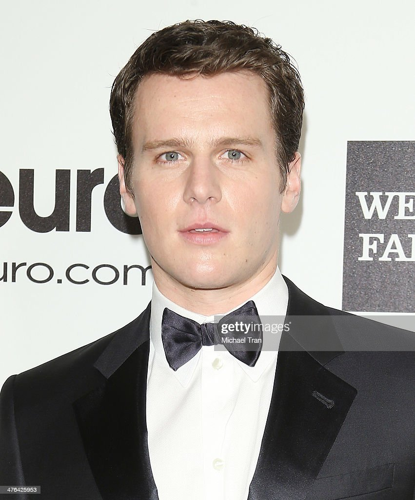 Jonathan Groff arrives at the 22nd Annual Elton John AIDS Foundation's Oscar viewing party held on March 2 2014 in West Hollywood California