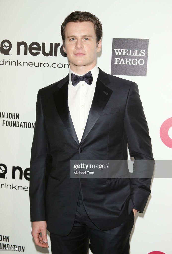 <a gi-track='captionPersonalityLinkClicked' href=/galleries/search?phrase=Jonathan+Groff&family=editorial&specificpeople=2994250 ng-click='$event.stopPropagation()'>Jonathan Groff</a> arrives at the 22nd Annual Elton John AIDS Foundation's Oscar viewing party held on March 2, 2014 in West Hollywood, California.