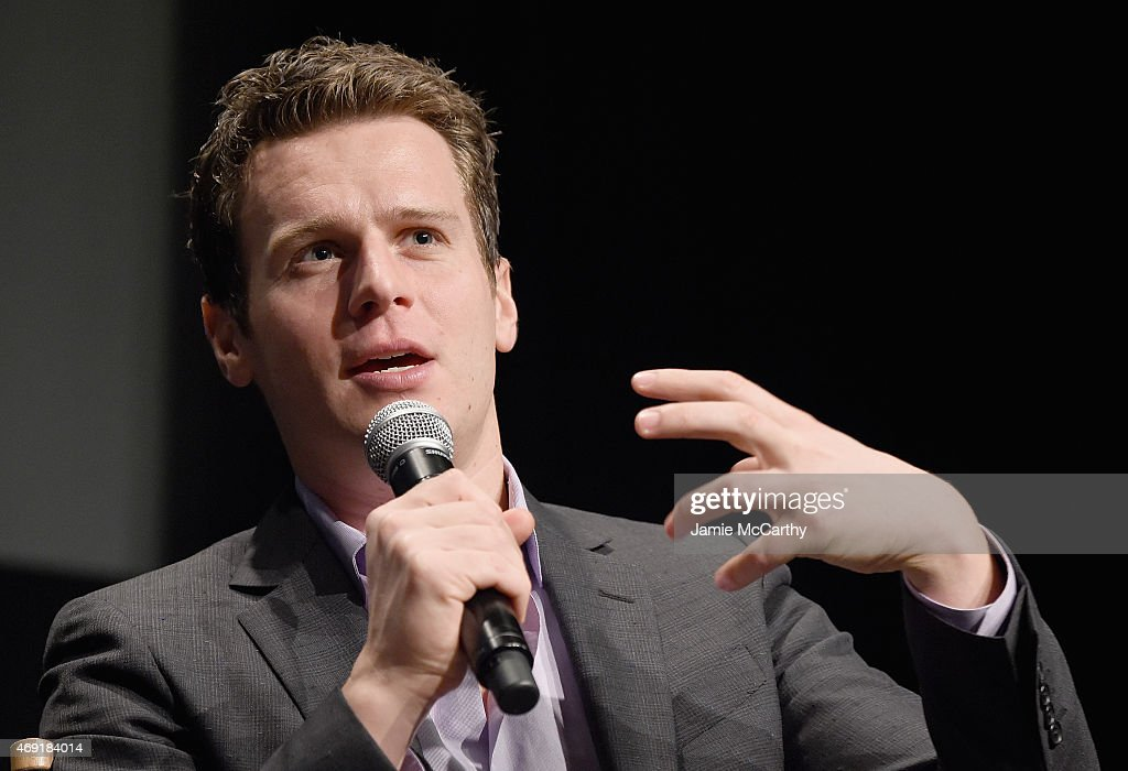 Jonathan Groff attends a SAG Foundation / Broadway World Conversations On Broadway at NYIT Auditorium on April 10 2015 in New York City