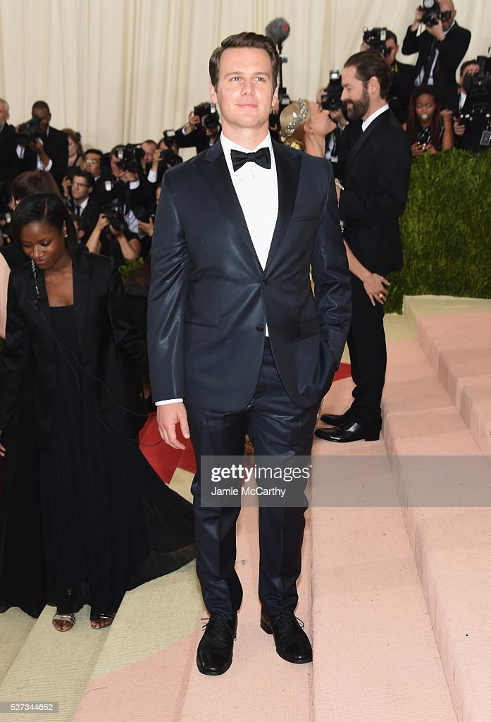 Jonathan Groff attends the 'Manus x Machina: Fashion In An Age Of Technology' Costume Institute Gala at Metropolitan Museum of Art on May 2, 2016 in New York City.