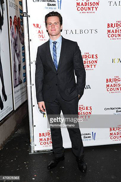 Jonathan Groff attends the production of 'The Bridges Of Madison County' at Gerald Schoenfeld Theatre on February 19 2014 in New York City