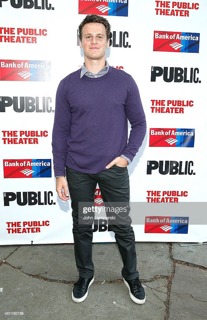 <a gi-track='captionPersonalityLinkClicked' href=/galleries/search?phrase=Jonathan+Groff&family=editorial&specificpeople=2994250 ng-click='$event.stopPropagation()'>Jonathan Groff</a> attends the Public Theater's 2014 Gala celebrating 'One Thrilling Combination' on June 23, 2014 in New York, United States.
