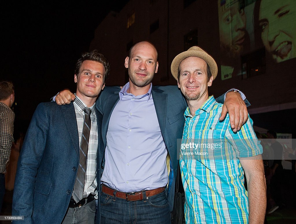 <a gi-track='captionPersonalityLinkClicked' href=/galleries/search?phrase=Jonathan+Groff+-+Actor&family=editorial&specificpeople=2994250 ng-click='$event.stopPropagation()'>Jonathan Groff</a>, <a gi-track='captionPersonalityLinkClicked' href=/galleries/search?phrase=Corey+Stoll&family=editorial&specificpeople=5599501 ng-click='$event.stopPropagation()'>Corey Stoll</a> and <a gi-track='captionPersonalityLinkClicked' href=/galleries/search?phrase=Denis+O%27Hare&family=editorial&specificpeople=213830 ng-click='$event.stopPropagation()'>Denis O'Hare</a> attends the 2013 Outfest Opening Night Gala Of 'C.O.G.' After Party at on July 11, 2013 in Los Angeles, California.