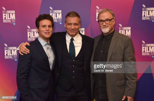 Jonathan Groff Holt McCallany and David Fincher attend the LFF Connects Special Presentation 'Mindhunter' European Premiere during the 61st BFI...