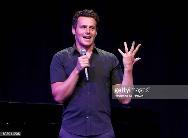 Jonathan Groff of 'Live from Lincoln Center' speaks onstage during the PBS portion of the 2017 Summer Television Critics Association Press Tour at...