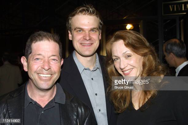 Jonathan Hadary David Harbour and Jan Maxwell during After Party for the Opening of 'A Bad Friend' by Jules Feiffer at Lincoln Center Beaumont...