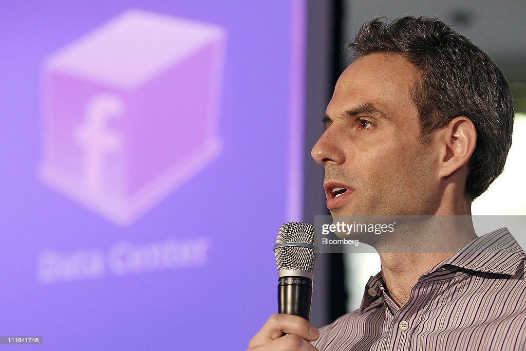 Jonathan Heiliger, vice president of technical operations for Facebook Inc., speaks during a news conference at the company's headquarters in Palo Alto, California, U.S., on Thursday, April 7, 2011. Facebook Inc. Chief Executive Officer Mark Zuckerberg plans to share the social-networking site's data-center and server designs with other companies to help the technology industry become more efficient. The effort, called the Open Compute Project, will provide access to technology Facebook developed with Intel Corp., Advanced Micro Devices Inc., Hewlett-Packard Co. and Dell Inc. Photographer: Tony Avelar/Bloomberg via Getty Images