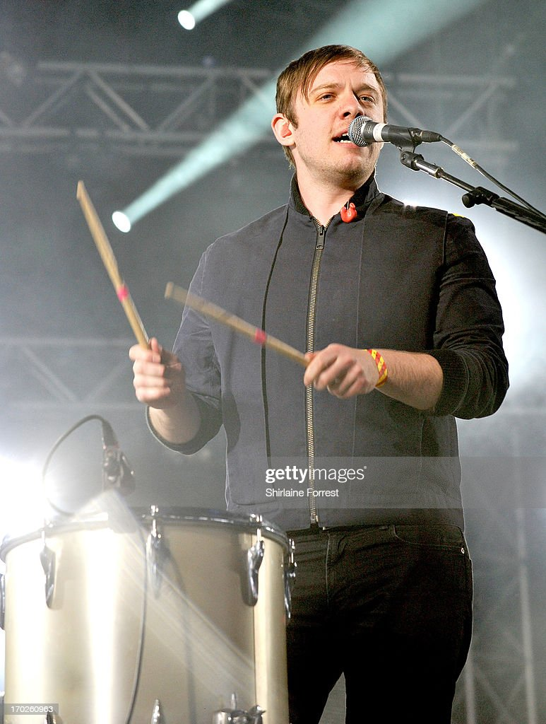 Jonathan Higgs of Everything Everything performs at Day 2 of the Parklife Festival at Heaton Park on June 9, 2013 in Manchester, England.