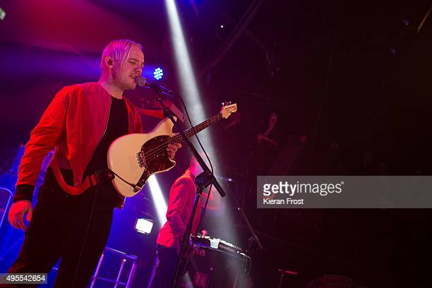 Jonathan Higgs of Everything Everything performs at The Academy on November 3 2015 in Dublin Ireland