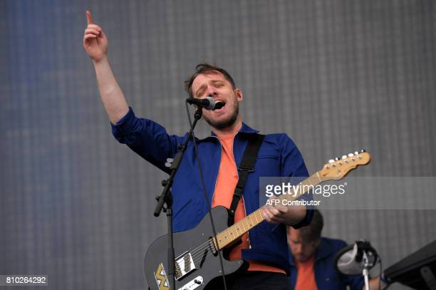 Jonathan Higgs of the band Everything Everything performs on the main Stage at the TRNSMT music Festival on Glasgow Green in Glasgow on July 7 2017...